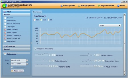 google analytics reporting suite desktop tool beta adobe air