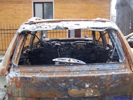 Porsche Cayenne burn out verbrannt